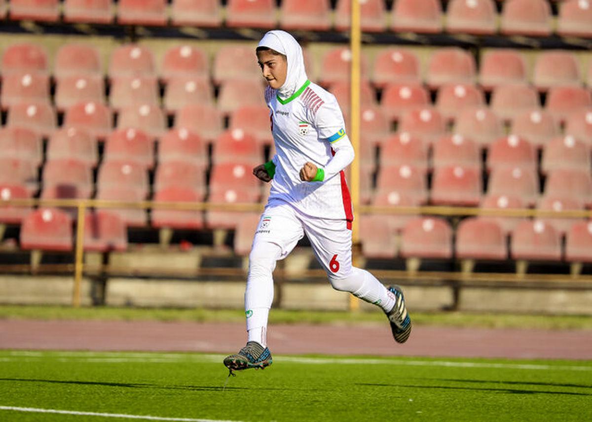 دختر ایرانی بهترین فوتبالیست کافا شد + عکس